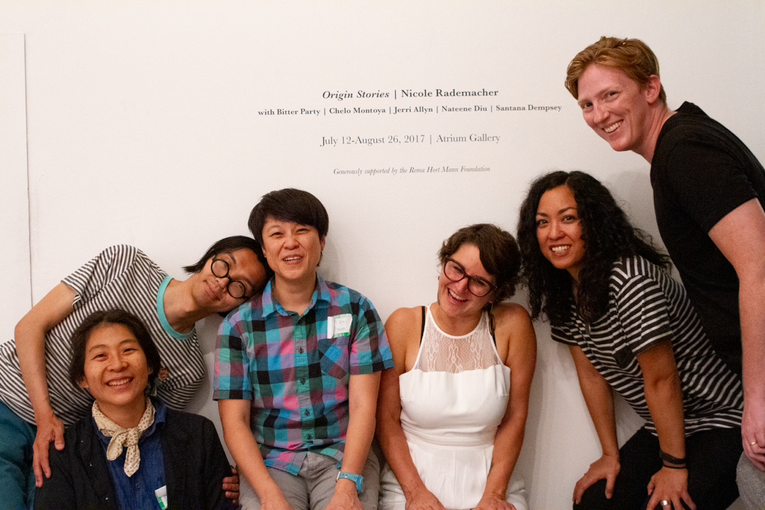 Origin Stories at 18th Street Arts Center with Bitter Party, 2017, a project by artist and adoptee Nicole Rademacher